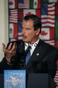 Mexico's President Vicente Fox  Baylor Univ