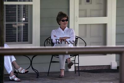 1st Lady Laura Bushon porch