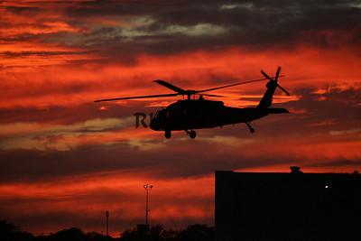 Marine One Sunset in Waco Texas (1)