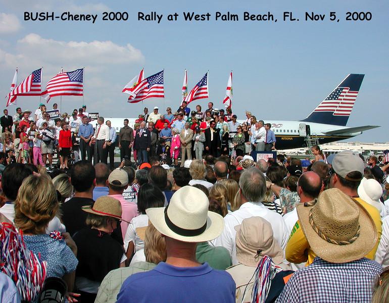 Bush Cheney 2000 rally Nov 2000 E-MAIL Version