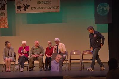 Clare Grady, Elizabeth McAllister, Mark Colville, Martha Hennesy, Patrick O'Neill, [Steve Kelly], Carmen Trotta