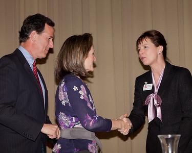 Senator and Mrs. Santorum, and Supreme Court Candidate Judge Sharon Kennedy