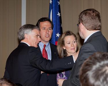 Congressman Bob Latta, Senator and Mrs. Santorum, and Grover Norquist