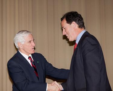 Supreme Court Justice Terrance O'Donnel and Senator Rich Santorum