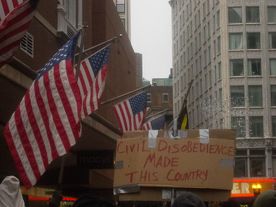 Occupy Boston at 1 month march, October 2011