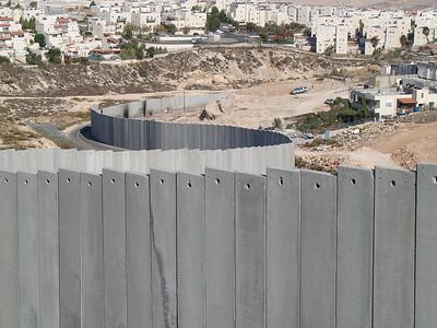 Separation Fence between Pisgat Ze'ev and Shuafat Camp.