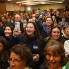 Lori Trahan wins 3rd Congressional District seat.  Supporters cheer Lori Trahan. (SUN/Julia Malakie)