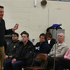 Congressman Seth Moulton holds a town hall at Wilmington Town Hall. (SUN/Julia Malakie)