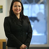 Newly elected state representative Tram Nguyen of Andover, at the Tewksbury Public Library. (SUN/Julia Malakie)