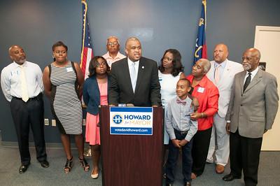 Howard For Mayor Filing Day 7-6-15
