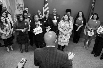 Gary L. McFadden Filing Day For Sheriff @ Meck County Board of Elections 2-12-18 by Jon Strayhorn