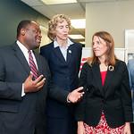 Trevor Fuller & HHS Secretary Sylvia Matthews-Burwell Tour Legal Services Of Southern-Piedmont 12-11-15