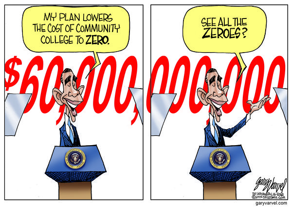 Cartoonist Gary Varvel: The real cost of free college