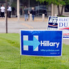 John P. Cleary | for The Herald Bulletin<br /> A Hillary Clinton campaign sign could be seen outside of Ward 5, Precinct 6 at the Central Services Building Tuesday.