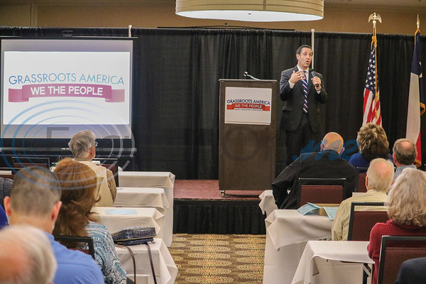 Glenn Hegar at Grassroots America event