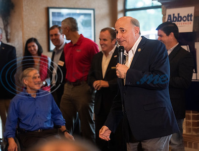 U.S. Rep. Louie Gohmert, R-Tyler speaks at a campaign event with Texas Gov. Greg Abbott at Bruno's Pizza, 15770 FM 2493 in Tyler on Wednesday Oct. 24, 2018.   (Sarah A. Miller/Tyler Morning Telegraph)