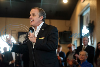 Texas Sen. Bryan Hughes, R-Mineola speaks at a campaign event with Texas Gov. Greg Abbott at Bruno's Pizza, 15770 FM 2493 in Tyler on Wednesday Oct. 24, 2018.   (Sarah A. Miller/Tyler Morning Telegraph)