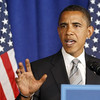 "Democratic presidential candidate Sen. Barack Obama, D-Ill. speaks during news conference in Clearwater, Fla., Wednesday, Sept. 24, 2008. In response to Republican John McCain's statement Wednesday that he wants to postpone Friday's debate to deal with the nation's financial problems, Obama said ""it's more important than ever"" that the country hear from its next president.  (AP Photo/Chris Carlson)"