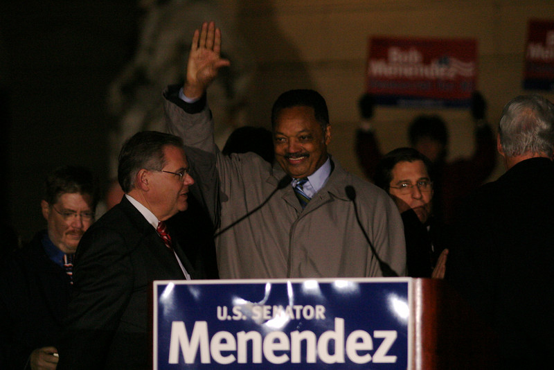 Pre-election rally<br /> Democratic party<br /> Hackensack courthouse steps<br /> Jesse Jackson