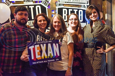 A midterm election Democratic watch party at Roast Social Kitchen in Tyler, Texas, on Tuesday, Nov. 6, 2018. (Chelsea Purgahn/Tyler Morning Telegraph)