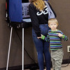 Don Knight | The Herald Bulletin<br /> Vernon Autrey III, 4, stands by as his mother Misty Yates casts her ballet at Anderson Zion Baptist Church on Election Day.