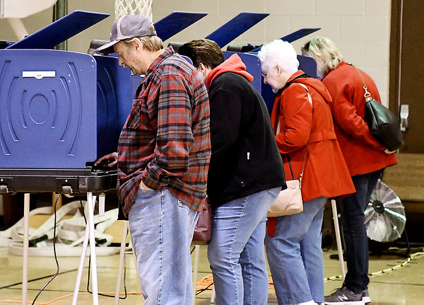 John P. Cleary | The Herald Bulletin<br /> The voting machines were full at Union Twp., precinct 2 Tuesday morning.