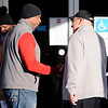 Don Knight | The Herald Bulletin<br /> Republican candidate for State Senator District 25 Zaki Ali greets voters as they arrive at the Anderson Zion Baptist Church to cast their ballots on Election Day.