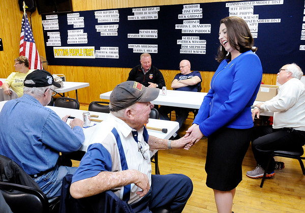 Don Knight   The Herald Bulletin<br /> Results come into Democratic Headquarters on Tuesday November 8th.