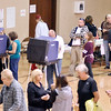 John P. Cleary |  The Herald Bulletin<br /> Voters waiting to cast ballots in Union 1 at Bethany Christian Church.