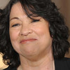 The nominee for Supreme Court Justice, Appeals Court Judge Sonia Sotomayor, smiles in the East Room of the White House in Washington, DC, May 26, 2009. Sotomayor if confirmed, will serve as the first Hispanic justice on the Supreme Court.