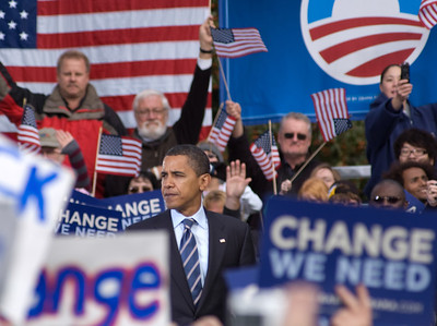Barack Obama rally at Calder Plaza in Grand Rapids, MI 2nd October 2008