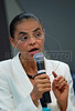Presidential candidate Marina Silva of the Green Party speaks during a press conference with foreign media correspondents, Rio de Janeiro, Brazil,  August 20, 2010. Brazil will hold presidential elections on October 3. (Austral Foto/Renzo Gostoli)