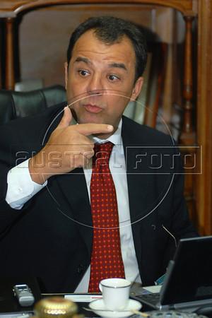 Rio de Janeiro Governor Sergio Cabral, Rio de Janeiro, Brazil, January 19, 2007. (Austral Foto/Renzo Gostoli)