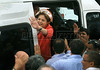 Presidential candidate Dilma Roussef of PT, Partido dos Trabalhadores, (Workers Party) visits the S. Cristovao market during a campaign rally, Rio de Janeiro, Brazil, September 26, 2010. Brazil will hold presidential elections on October 3. (Austral Foto/Str)
