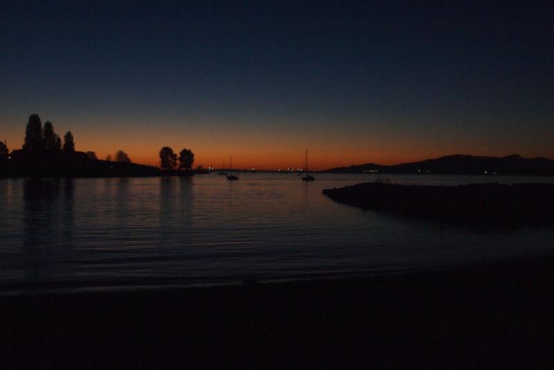 English Bay sunset.