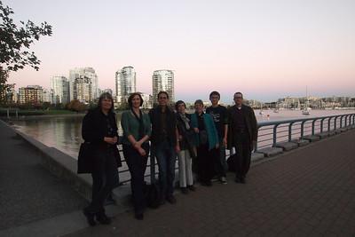 False Creek sunset with Stina, Jacquie, Jordan, Vanessa, Evelyn, Regan, Don.