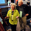 "Boulder County Commissioner candidate, Deb Garner, and Rollie Heath, listen to a delegate on Saturday.<br /> Boulder County Democrats held their 2012 assembly at Skyline High School in Longmont on Saturday.<br /> For a video and more photos  of the assembly, go to  <a href=""http://www.dailycamera.com"">http://www.dailycamera.com</a>.<br /> Cliff Grassmick / March 24, 2012"