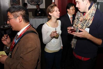 Alyssa Sittig talking with Matthew Kroneberger.