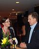 U.S. Senator Jim DeMint speaks with unidentified woman at VIP reception.