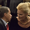 Mike McMahon - The Record, Former New York  Gov. David Paterson with Gov.Coumo's girlfriend Sandra Lee at the 2014 State of the State Address at the Empire State Plaza ConventionCenter, Albany, NY, Wednesday January 8, 2014