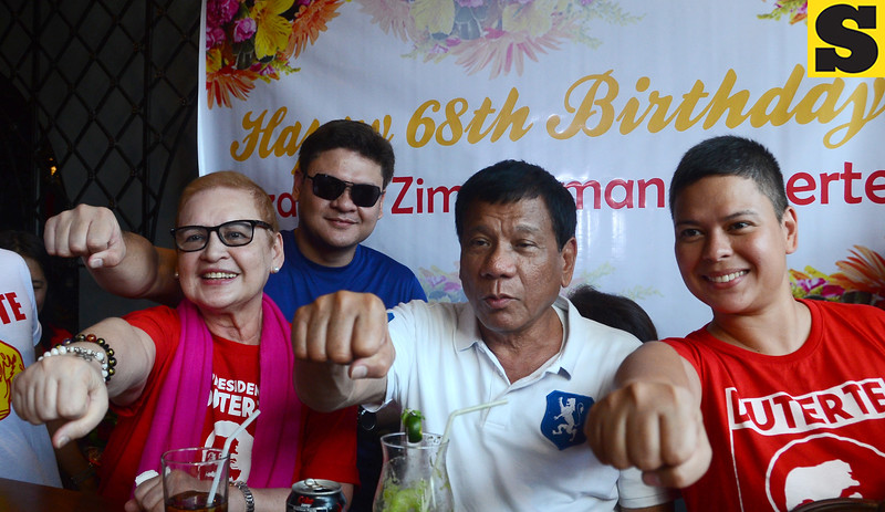 Rodrigo Duterte and family