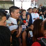 Chiz Escudero interviewed by reporters