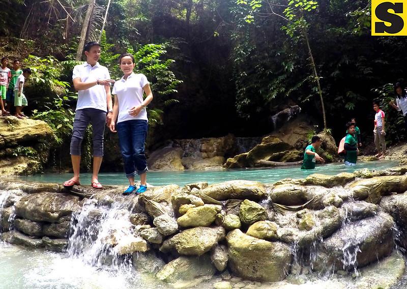 Grace Poe and Chiz Escudero in Samboan, Cebu