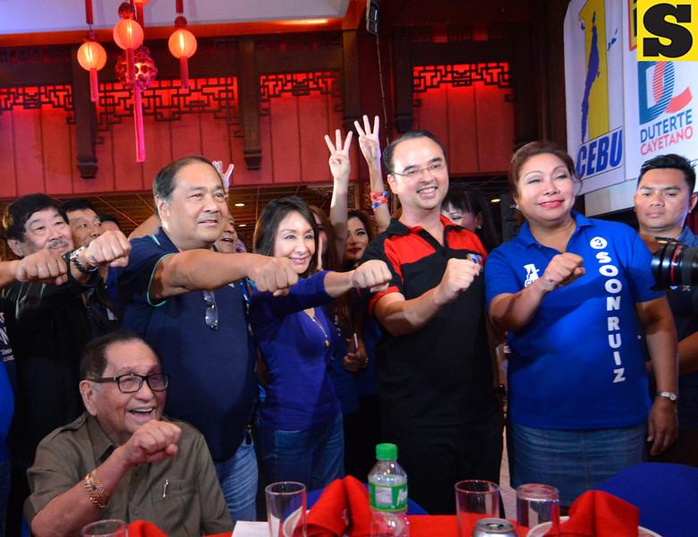 Alan Peter Cayetano with One Cebu candidates