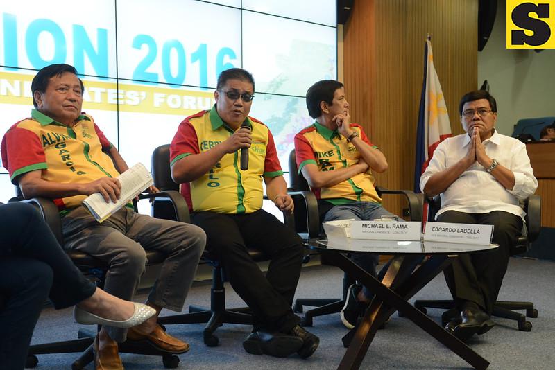 Team Rama candidates in a RAFI forum