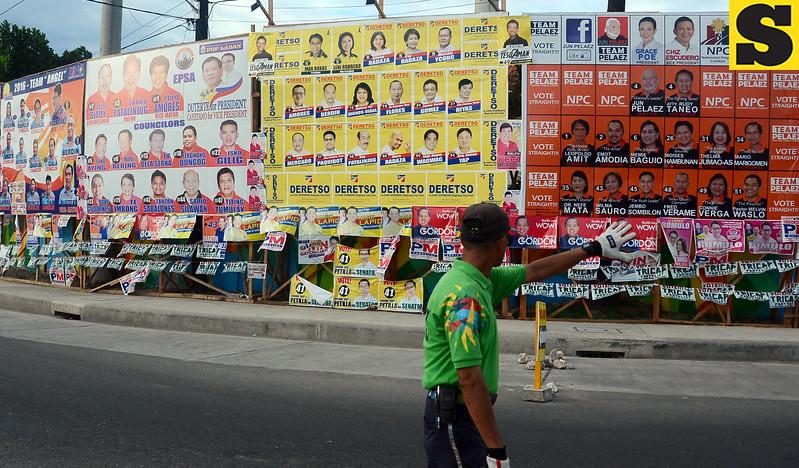 Common poster area in Lapu-Lapu City