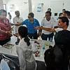 Grace Poe greets former Toledo City mayor Celso Espinosa