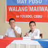 Senator Grace Poe and Chiz Escudero in press conference at Toledo City for thier out of town campaign