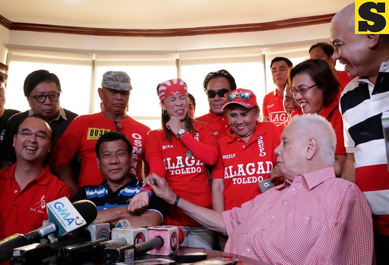 Alan Peter Cayetano, Rodrigo Duterte and Sonny Osmena