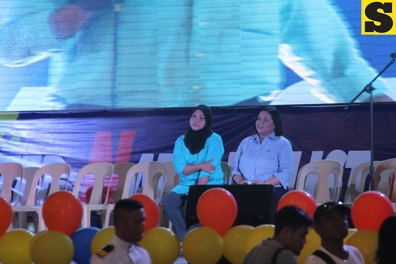 Sulu Sultanate Princess Jacel Kiram and Paranaque Councilor Alma Moreno for senator
